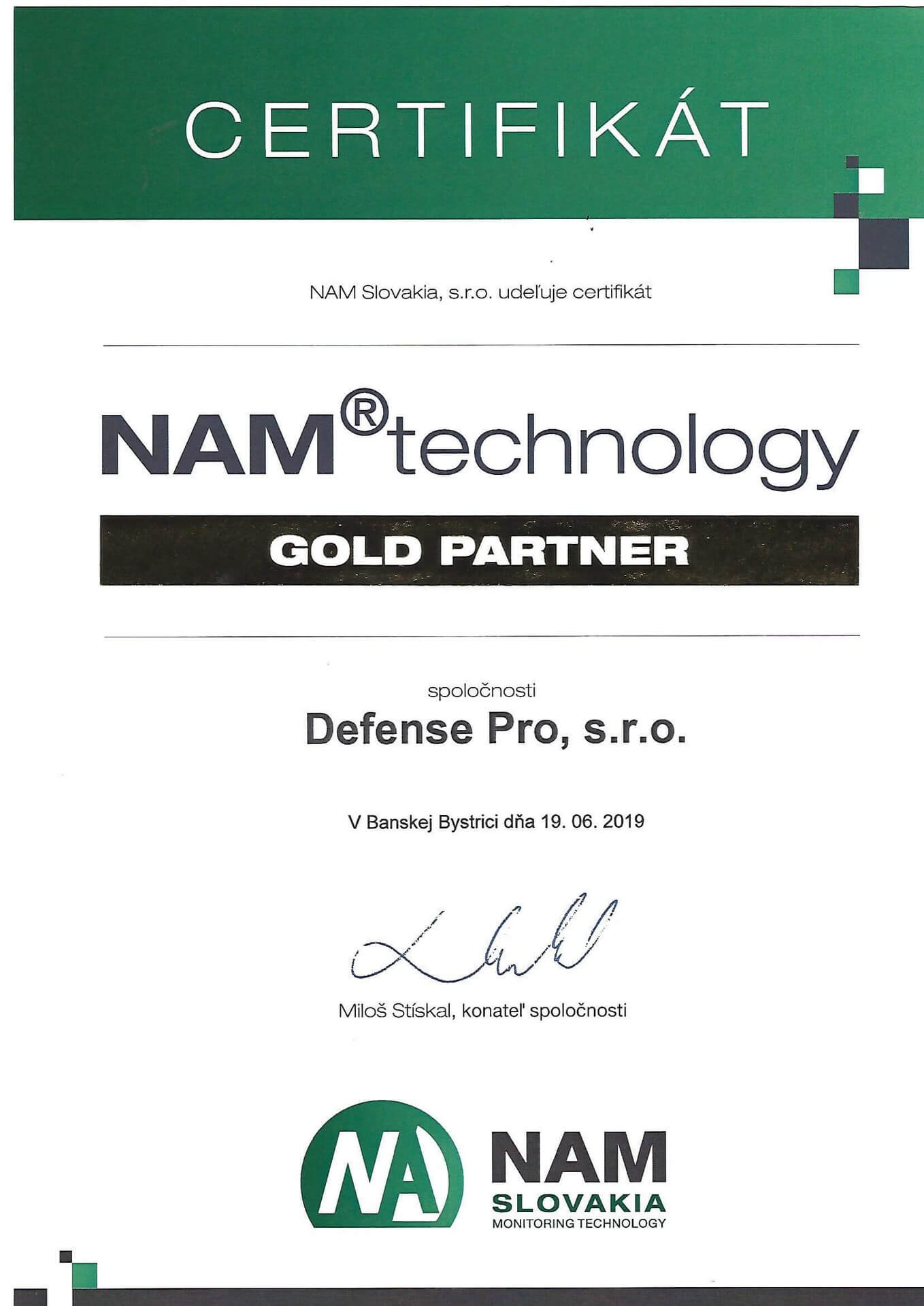 NAM Technology Gold Partner